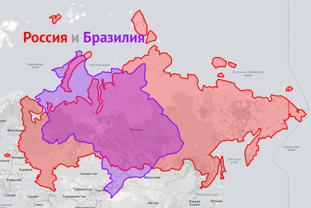 Сравнение России с Бразилией