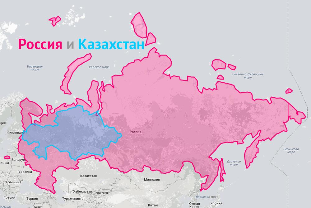 Сравнение России с Казахстаном